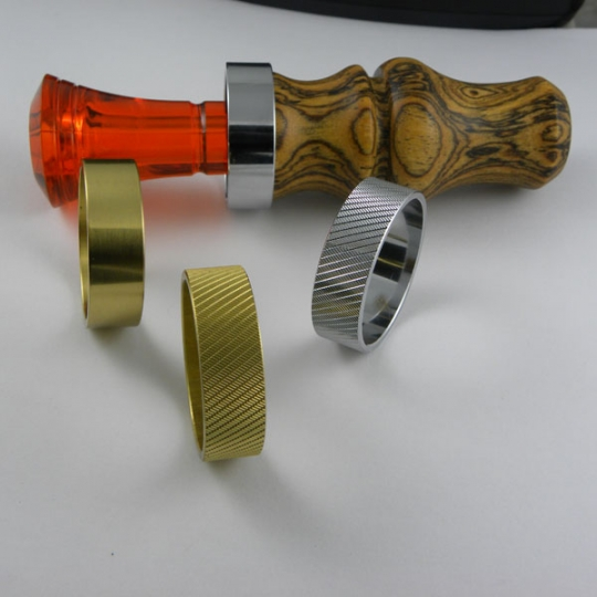 Banded Ducks Duck Call Band Knurl Brass