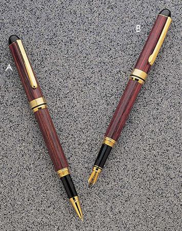 Gunmetal and 24kt Gold Wooden Pen Olivewood DesignerEuro Style